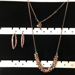 Fossil Women's Necklace and Earring Set